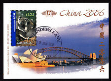 2006 China Stamp & Coin Expo - CTO Flinders Lane Mini Sheet (A)