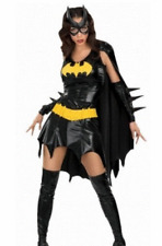 NEW ADULTS BATGIRL BATMAN SUPERHERO COSTUME FANCY DRESS- LADIES SIZE MEDIUM