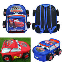 GIFT Disney Pixar 95 Cars McQueen Kids Backpack School Bag for Child Boys Girls