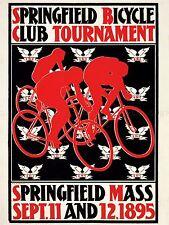Publicité sport course Springfield vélo badge rétro vintage poster lv1152