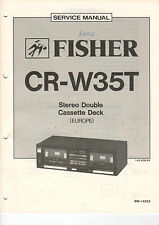 FISHER Service Manual Anleitung CR-W35T  B1462
