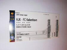 used ticket HJK HELSINKI - FC COPENHAGEN 27.11.2014