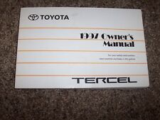 1997 Toyota Tercel CE Limited 1.5L Operator User Guide Owner Owner's Manual
