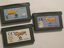 3 NINTENDO GAMEBOY ADVANCE GBA GAME CARTRIDGES BUNDLE CATZ + DOGZ + DOGZ FASHION