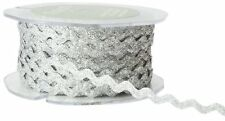 1/4 Inch wide Ric Rac Ribbon silver color price for 3 yards