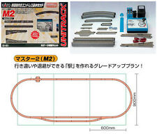 KATO N Scale 20-851 UNITRACK M2 Basic Oval and Siding Track Set with Power Pack