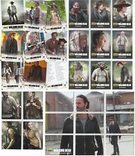 Walking Dead Season 4 Part 1 - 72 Basic Set & 3 Chase Sets Mini Master 94 Cards