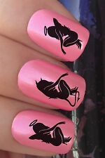 NAIL ART SET #318. x24 ANGEL DEVIL GIRL HALLOWEEN WATER TRANSFERS/DECAL/STICKERS