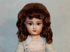 Dee Brown or Light Blonde mohair wig  for antique French or German doll size 8