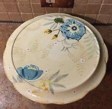 """Pfaltzgraff Cake Plate Vintage Floral Large NWT 13"""" Pedestal Plate"""
