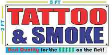 TATTOO & SMOKE Banner Sign NEW Larger Size Best Quality for the $$$