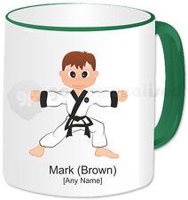 Personalised Martial Arts Mug- Tang Soo Do Boy- Green Handle