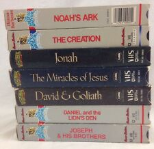 Hanna-Barbera's The Greatest Adventure Stories From the Bible VHS 7 Tape Lot
