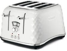 De'Longhi Brillante Faceted 4 Slice Toaster CTJ4003.W - White