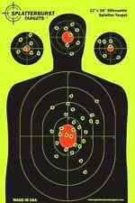 25 Pack, 12x18 Silhouette Splatter burst Paper Target Shoot Gun Rifle Pistol BB