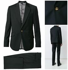 NWT VIVIENNE WESTWOOD MAN BLACK SLIM FIT JAMES ONE BUTTON SUIT. UK 40R, EUR 50R