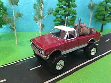 1/64 Custom Lifted 1968 chevrolet c-10, tricked out & sweet, farm toy truck!