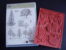 "NEW Stampin' Up ""Lovely as a Tree"" Cling Foam  Stamp Set"