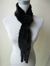 free shipping /real   mink fur knitted scarf  (BLACK))