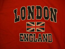 London England Great Britain Flag Country Lover Red T Shirt L