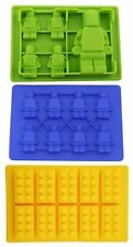 Lego Molds Silicone, set of 3 shapes  lego people and lego bricks, jello & wax