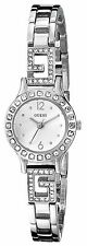 Guess Women's U0411L1 Silver-Tone Jewelry Inspired Watch With Self-Adjustable