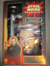 Qui-Gon Jinn Qui Gon Costume Kit  Vintage Star Wars Episode I Mask & lightsaber