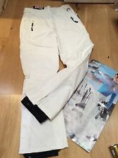 BNWT CRIVIT SPORTS Ladies Ski Snowboard Trousers Pants White Size 14/40 Fits 12