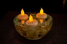 6 Flameless LED Floating Candles Battery operated New white tea lights