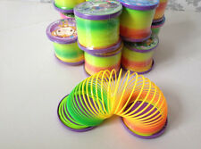 Fun Slinky Rainbow Spring Toy Bouncy Childrens Stocking Filler Santa Xmas Gift