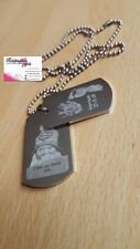 PERSONALISED DOUBLE ENGRAVED DOG TAG &  CHAIN  - GIFT