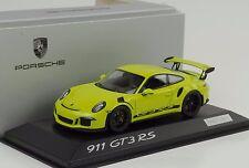 2014 Porsche 911 991 GT3 RS Lichtgrün 1:43 Minichamps Dealer WAP