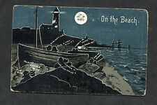 "Comic/Cartoon - ""Lovers On The Beach"". Stamp/Postmark (Dover) 1909"