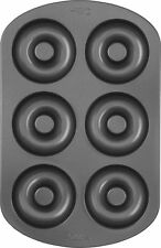 Wilton New 6 Cavity Cake Donut Baking Pan Durable Steel With Non Stick Finish