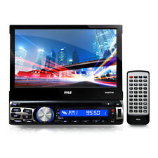 "Pyle PLBT73G 7"" Flip-Out Single Din DVD Receiver With GPS And Bluetooth"