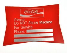 Coca-Cola Coke USA Automaten Aufkleber USA Sticker Decal - Do NOT Abuse Machine