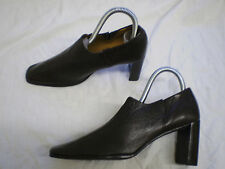 Original Anne Klein Brown Leather Loafer Slip on Court Shoes New Sz UK6 6.5 EU39