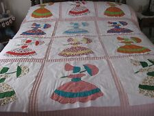 Hand Made Applique Southern Belle Quilt-Block-Panels 12/pc. Mutl-Colors