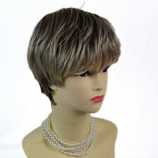 Posh Summer Style Dark Brown & Blonde Short Ladies Wigs from WIWIGS UK