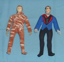 """vintage Mego MAD MONSTER 8"""" DRACULA (type 2) and MUMMY LOT universal monsters"""