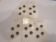 Lot of 5 Black Gold Edged Buttons by Schwanda Cards of 4 Box M Sewing Crafts