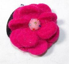 PINK GRINGO FAIR TRADE FELT FLOWER HIPPY BOHO BOBBLE / SCRUNCHIE NEPAL