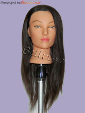 "*USA SELLER*  24"" Cosmetology Mannequin Head 100% HUMAN Hair"