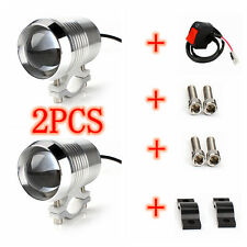 2x 30W Motorcycle Spot Light CREE Chip U2 LED Driving Headlight Fog Lamp &Swith