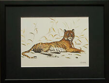 Joel Kirk print, Tiger framed wall art - 11''x14'' frame, Tiger by Joel Kirk