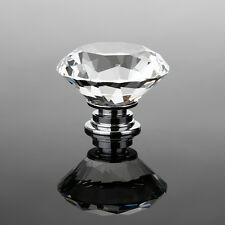 16pcs 40mm Clear Crystal Glass pomello dello sportello cassetto mobiletto arredo cucina MANIGLIA