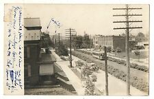 RPPC Trolley on State St HARRISBURG PA Vintage Real Photo Pennsylvania Postcard
