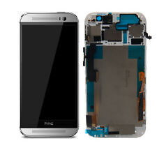 A+ HTC One M8 Full LCD Display + Touch Screen Digitizer Assembly + Bezel Silver