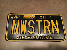Missouri License Plate, Northwestern University Wildcats Football Collectible