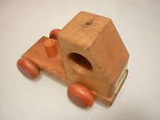 Vintage 1970's Kids Toy Car Truck - Solid Wood - Marked Dated 1979